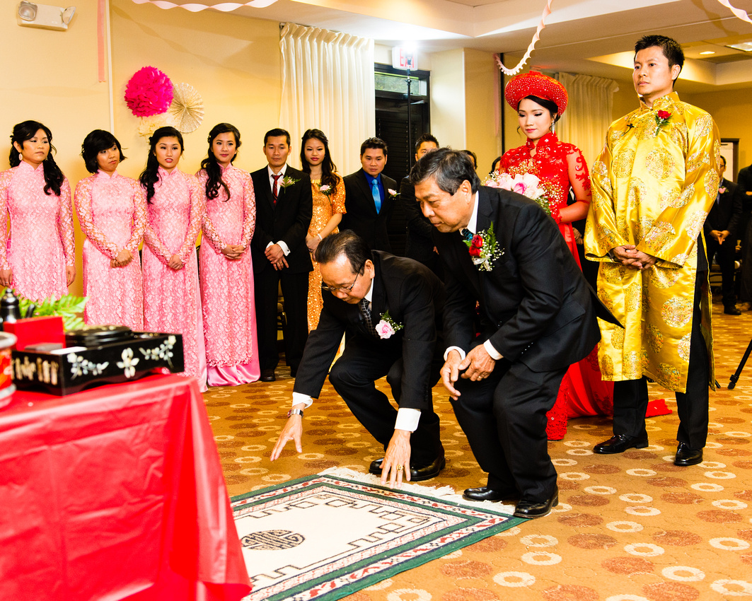 traditional vietnamese wedding In vietnam the engagement is sometimes considered more important than the actual wedding each family will have representatives who actually ask the fiancee for her hand in marriage from the fiance.